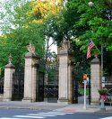 Princeton University entrance in Princeton, NJ